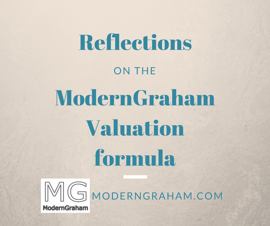 Reflections on the ModernGraham Valuation Formula
