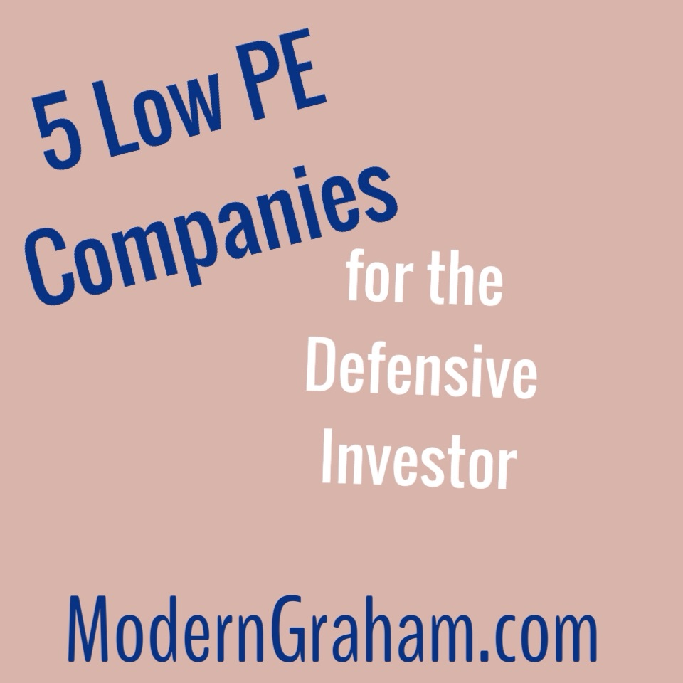 5 Low PEmg Stocks for the Defensive Investor – May 2015