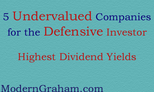 5 Highest Dividend Yields Among Undervalued Companies for the Defensive Investor – December 2014