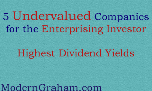 5 Undervalued Companies for Enterprising Investors With High Dividend Yields – July 2015