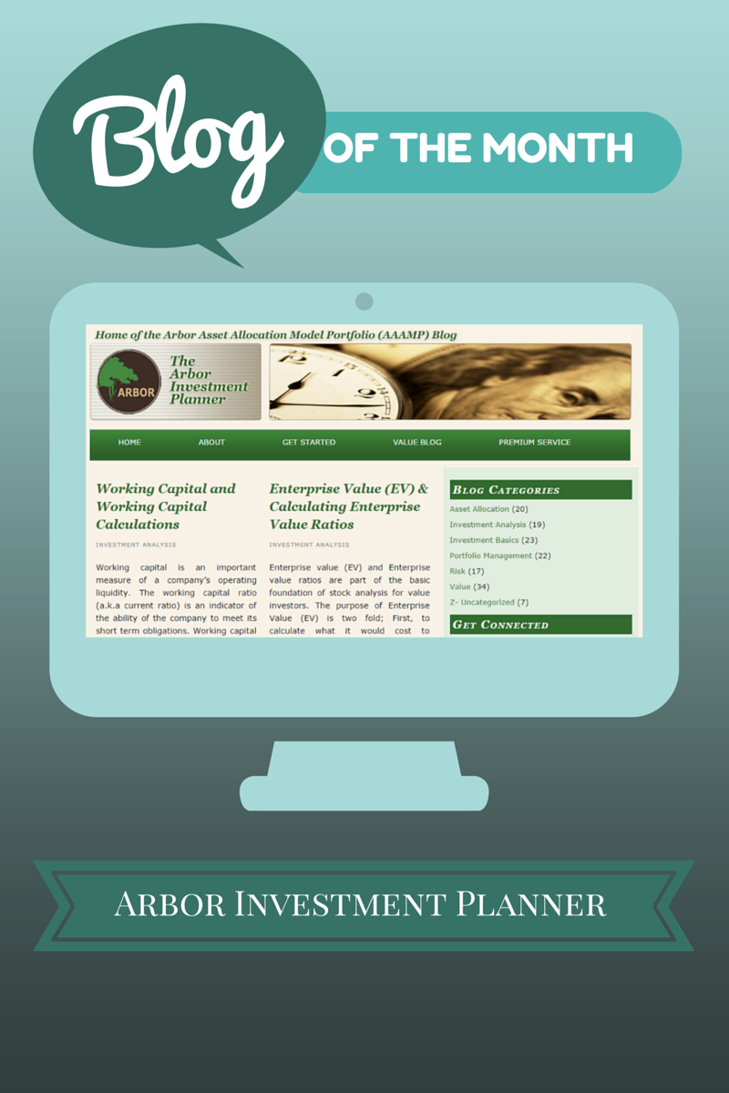 Blog of the Month for October 2014:  Arbor Investment Planner