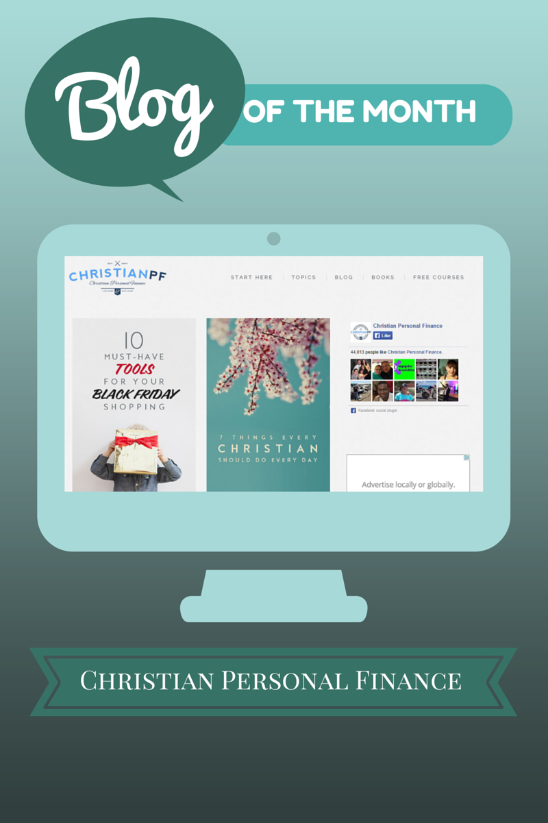 Blog of the Month for November 2014:  Christian Personal Finance