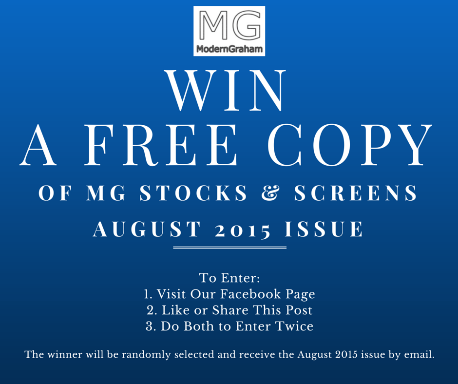 Giveaway!  Win a Copy of MG Stocks & Screens: August 2015!