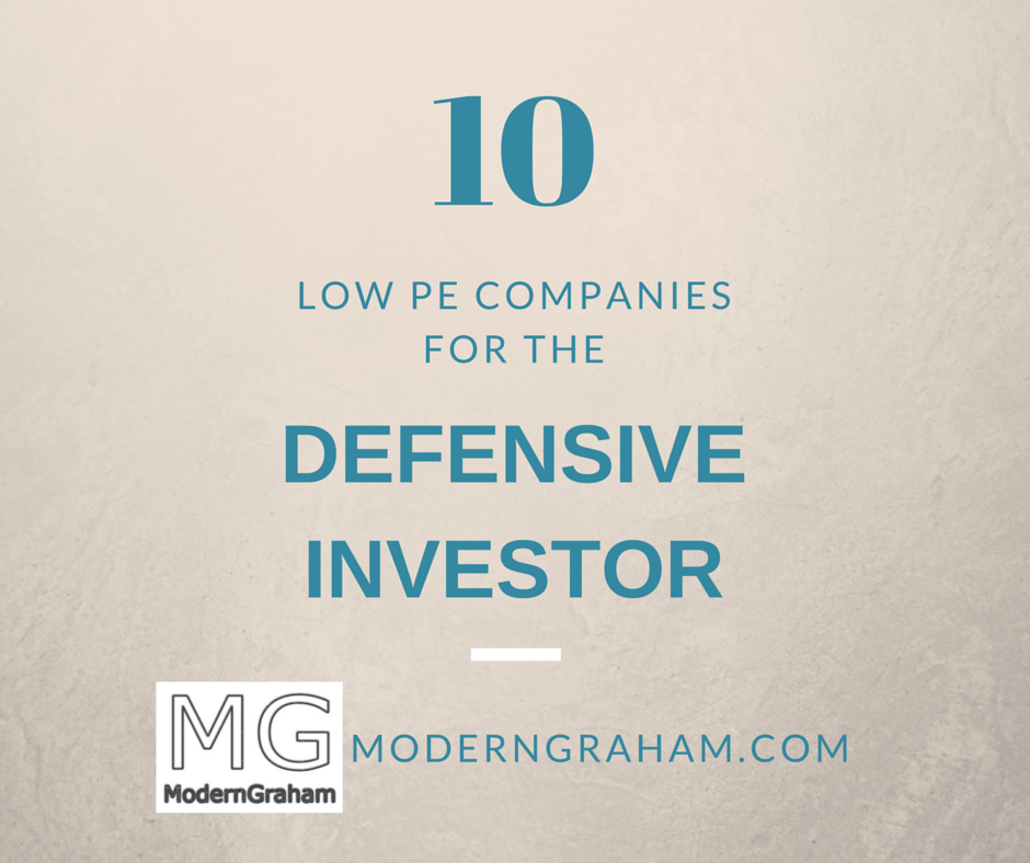 10 Low PE Stock Picks for the Defensive Investor – January 2017