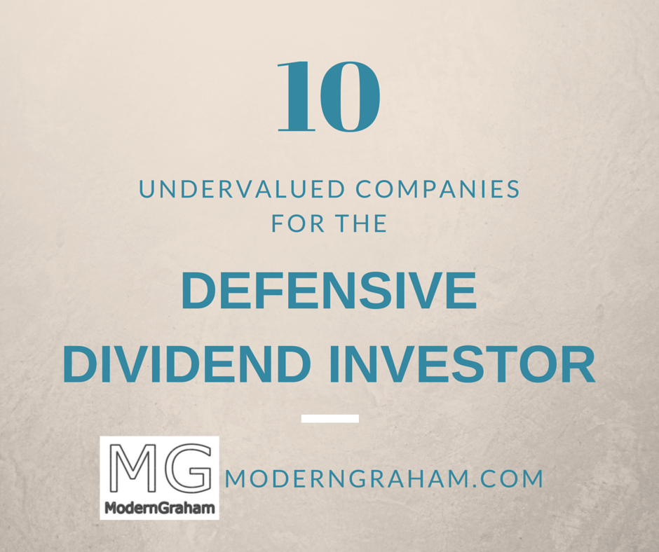 10 Undervalued Companies for the Defensive Dividend Stock Investor – February 2019