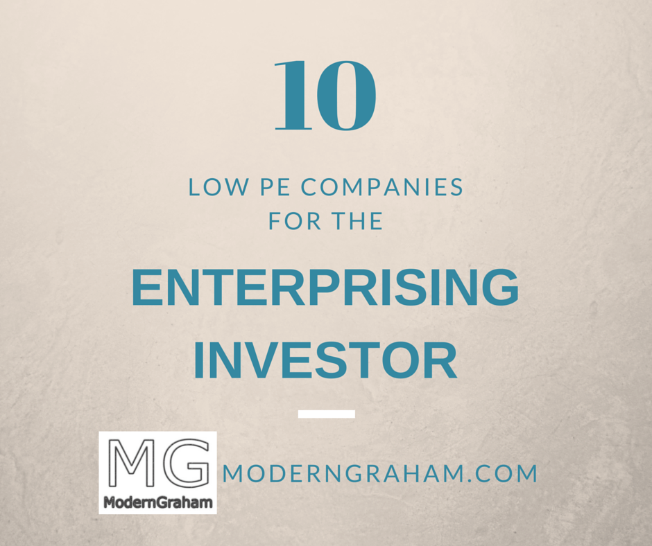 10 Low PE Stock Picks for the Enterprising Investor – March 2019