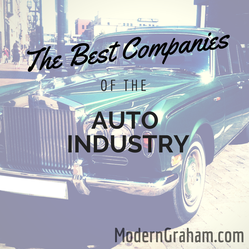 The Best Companies of the Auto Industry – October 2015