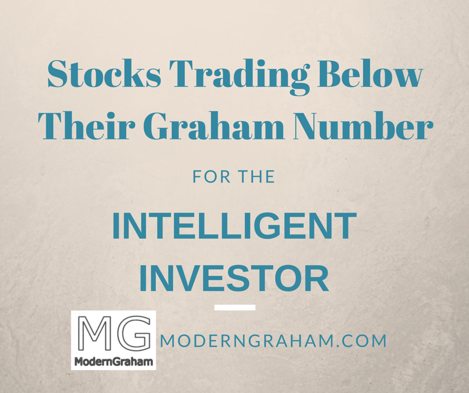 Stocks Trading Below Their Graham Number – July 2016